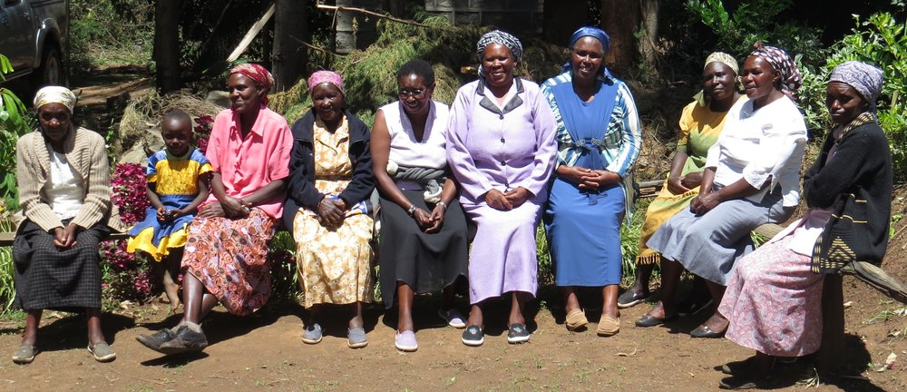 Members of the Karunga Women's Group in Elburgon taking a break