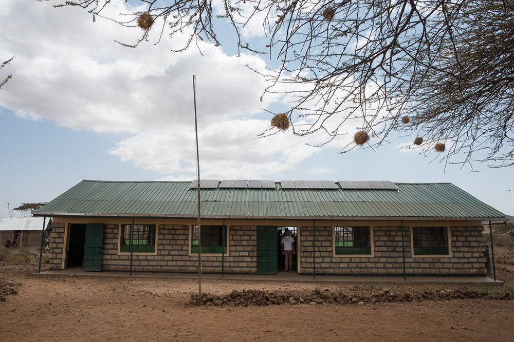 First two classsrooms of the new Kachiuru Primary School