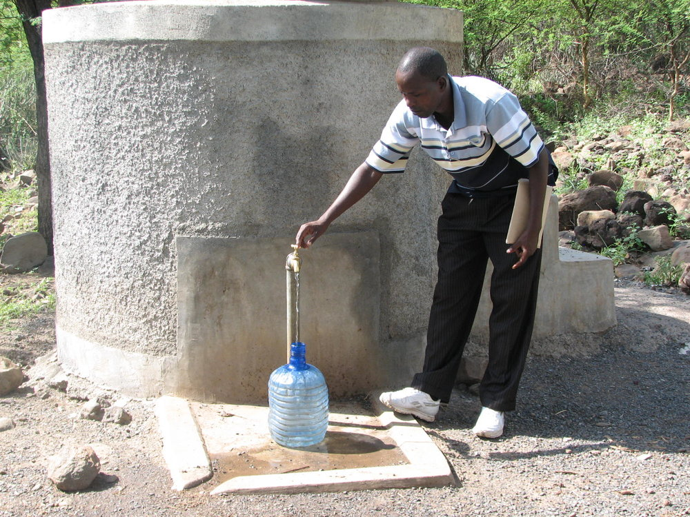Community water filter at Kirepari
