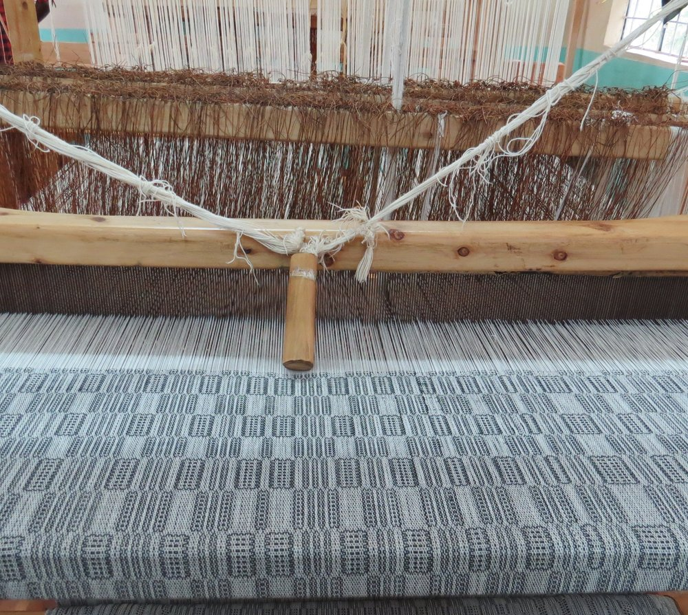 Cloth on the loom