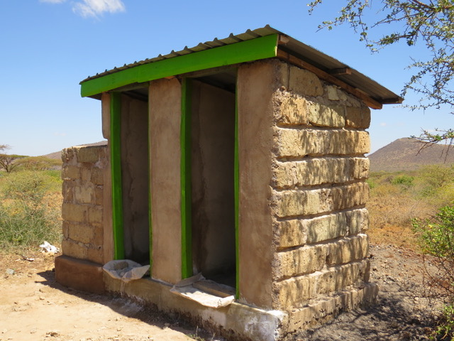 The toilet at the dispensary, almost finished.