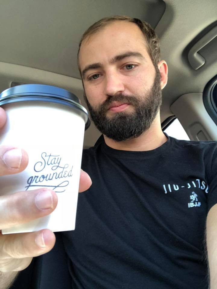 In ABQ with a courted from my favorite, Humble Coffee.  Also, wearing a Jiu Jitsu shirt in New Mexico is like wearing gang colors.  Everyone notices and has something to say.  Weird