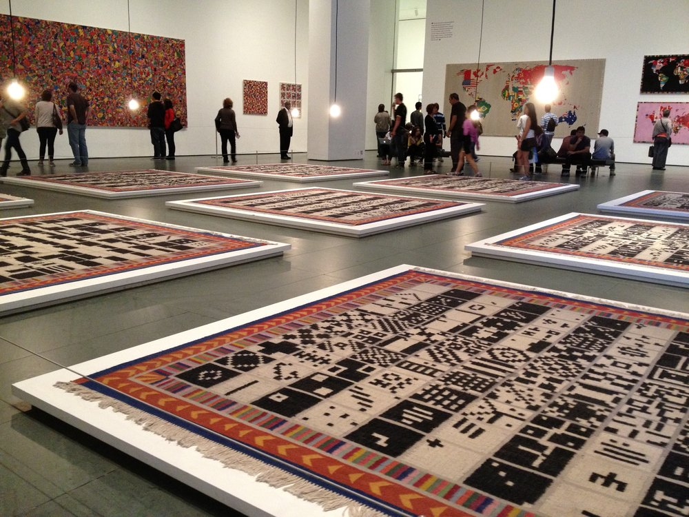 cool rug exhibit I saw in NYC a million years ago