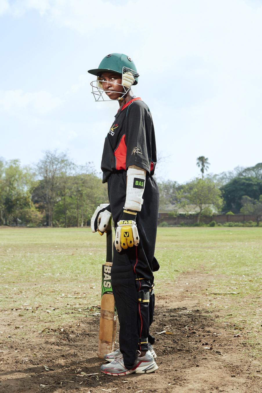 Dalida Dzimau, batsman