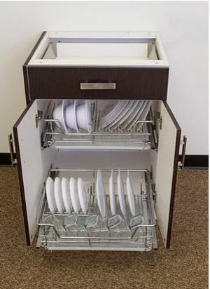 Roll out tray plate organizer gallery modern family kitchens rot plate organizer 3g workwithnaturefo