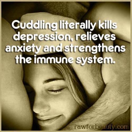 Cuddling is healthy