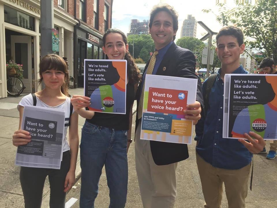 YPPG members with New York City Councilmember Ben Kallos