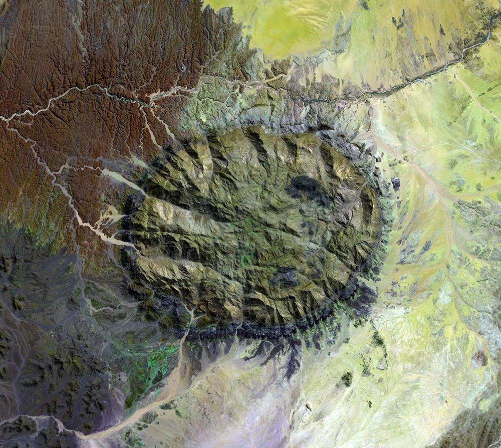 Brandberg Massif, Namibia • LANDSAT image