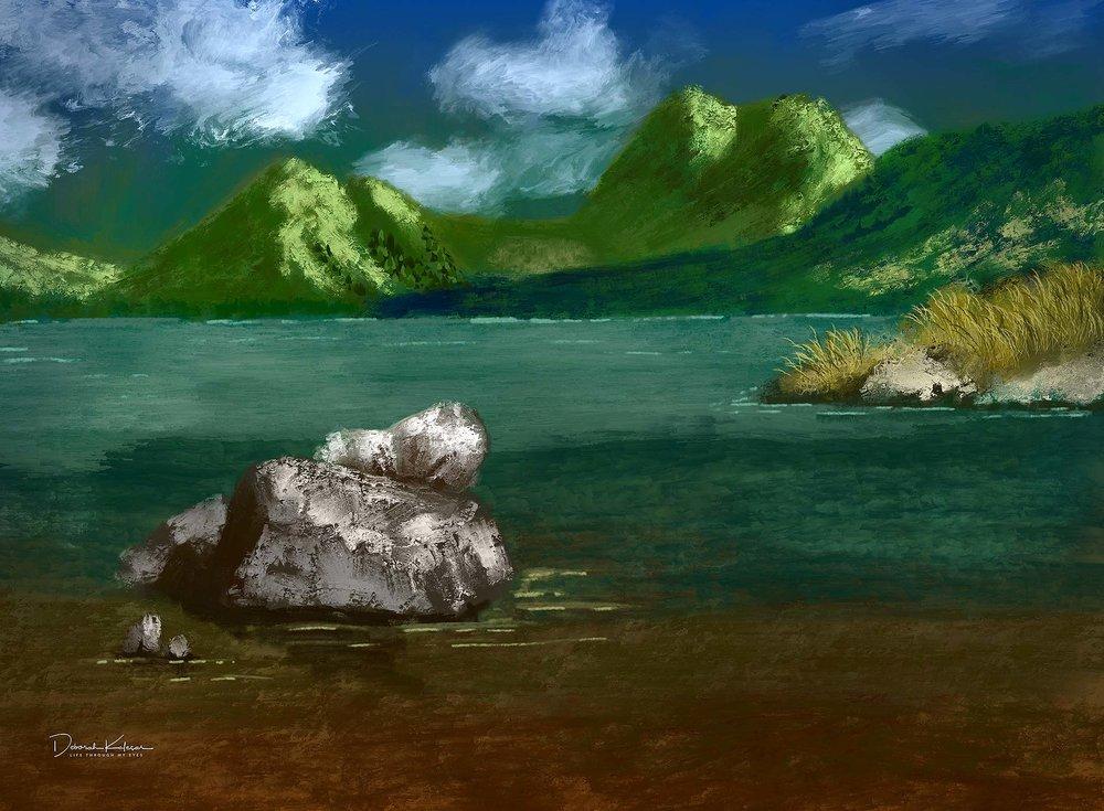 Painting by Deborah Kolesar