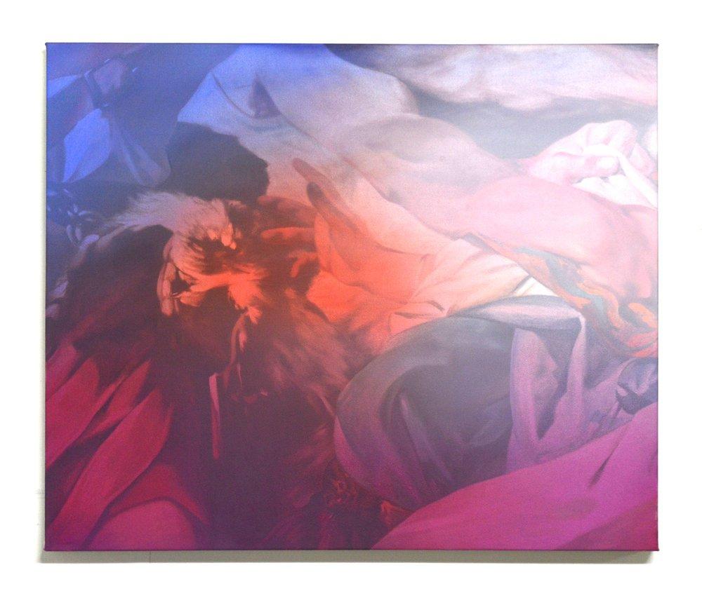 """""""Golden Window I"""" 24"""" X 30"""" oil on canvas 2016 Julian Rogers"""