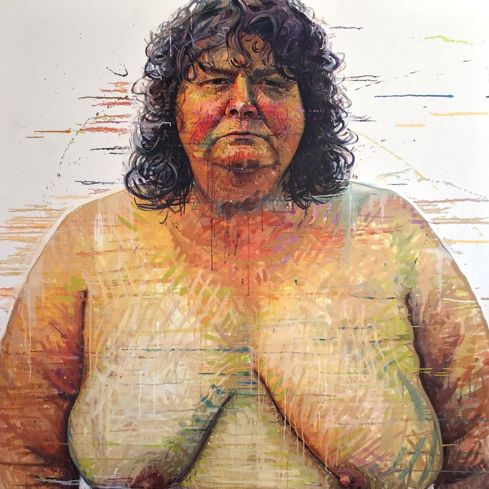 """Myo, Portland, OR"" *somewhereX a gay Mormon portrait project because we exist! 72"" x 72"" oil on canvas"