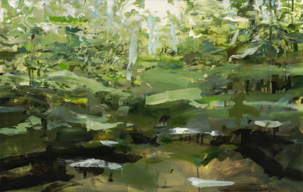 New Hampshire Trees by Alex Kanevsky  36 x 56 inches,Oil on linen