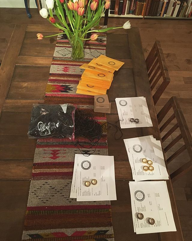 Christmas orders! Comin' atcha! #vinciring #holidays #gifts #spinners #jewelry #brass #titanium