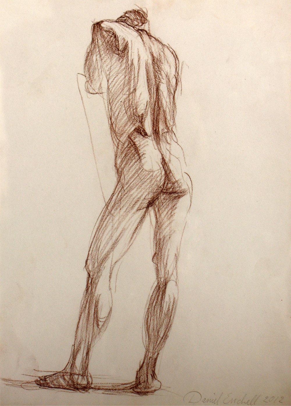 Standing figure, back