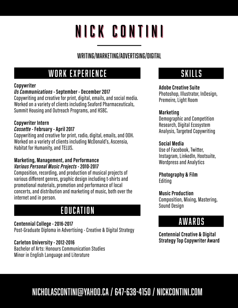 Resume — Nick Contini