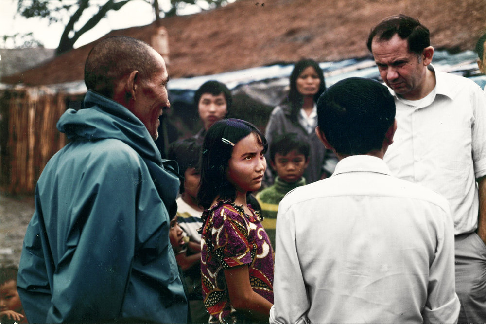Ambassador of Thailand  Ambassador of Thailand, Morton Abramowitz (left) in newly opened Khao-I-Dang Refugee Camp 1979.  Picture courtesy of Morton and Sheppie Abramowitz.