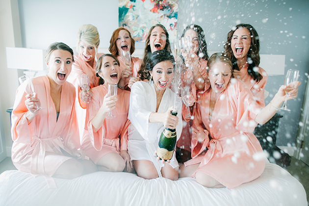 Bachelorette Party, Popping Champagne!, Courtesy of BrideBox