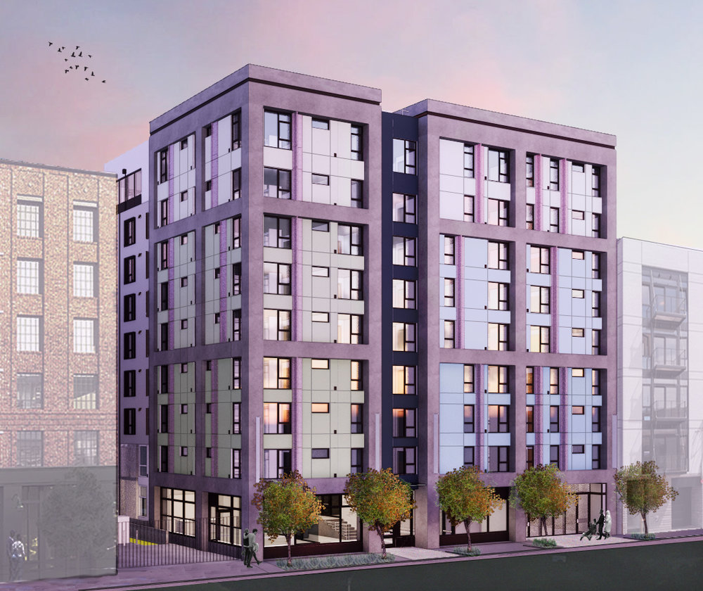 Conceptual Rendering for 681 Forida Apartments by Mithun