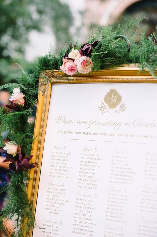 Mia Maria Design_Seating Chart_Custom Monogram_Charleston Wedding_Aaron and Jillian Photography.jpg