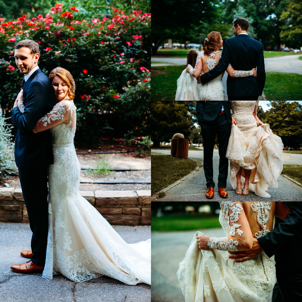 first look, downtown Raleigh wedding
