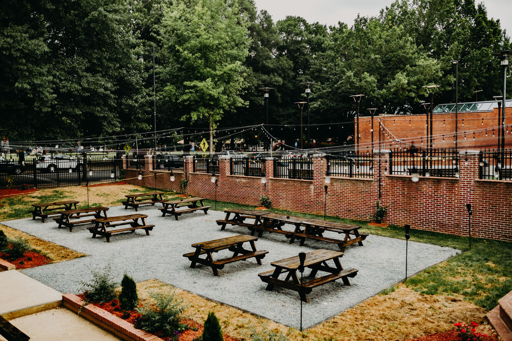 courtyard at Cafe Luna, downtown Raleigh wedding