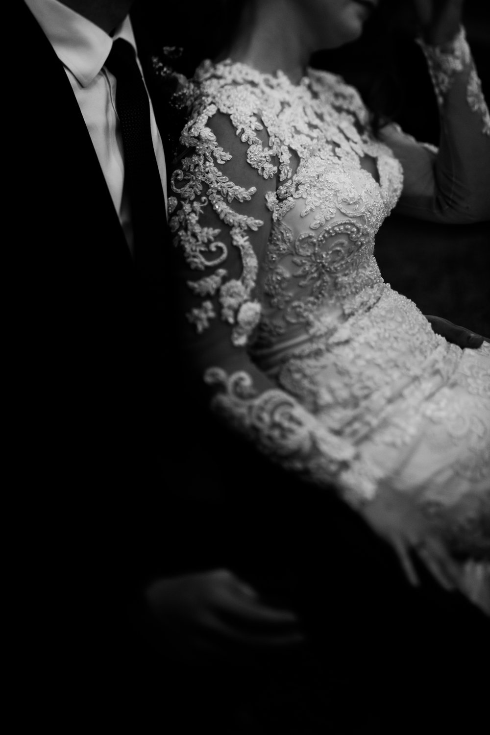 bride and groom black and white, downtown Raleigh wedding