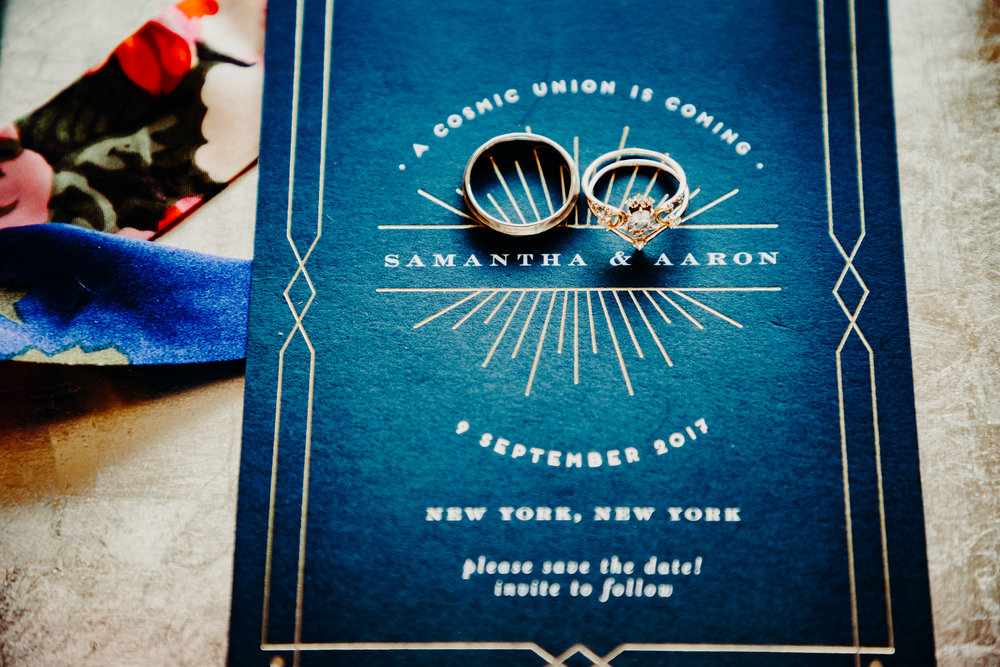 ring shot and invitation