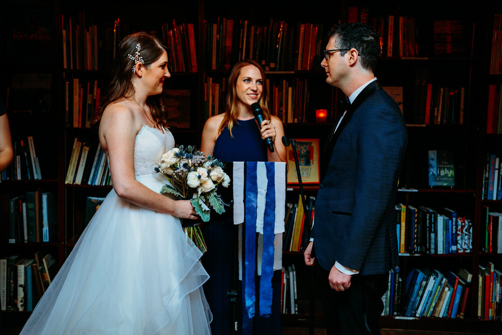 Ceremony at Housing Works Bookstore Wedding