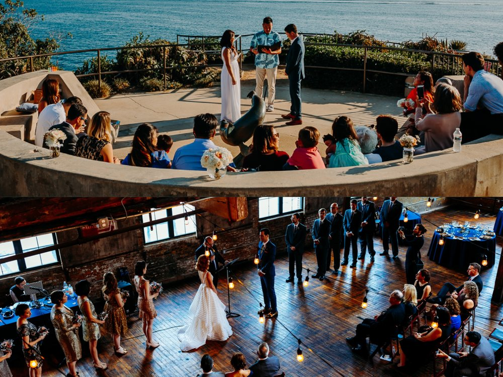 I love weddings at unique spaces. The top image was a elopement in Laguna Beach, CA. As a New York Wedding Photographer I love getting the call to go photograph on the west coast. The bottom image was a wedding at Green Point Loft in Brooklyn. Even though I am a wedding photographer based in NYC, I do love shooting in Brooklyn, NY.