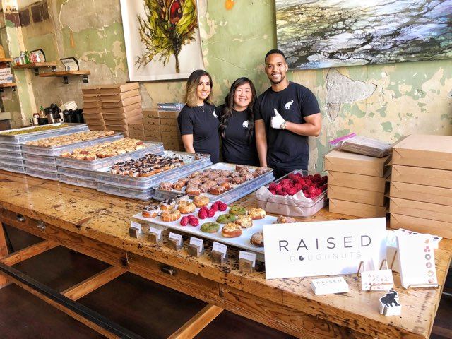 RAISED DOUGHNUTS X EASTERN CAFE POP UP  3.10.2018 So great being back at Eastern Cafe for one of our last POP UPS before we open the shop!