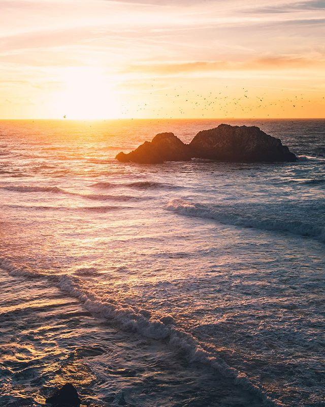 Sunset from Sutro Baths in San Francisco #sanfrancisco #california #sunset