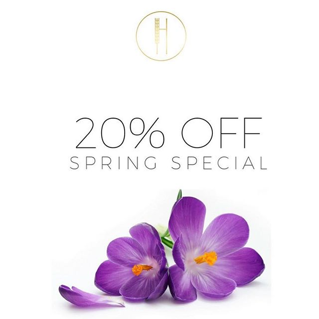 Prebook your Spring Slot! . Spring is around there corner & we know you all have been dying to get rid of your winter mop! We are offering 20% off cut & color services valid between April 1 2018 - May 1 2018.  To book with us please call the salon or book online ( Link in our Bio)