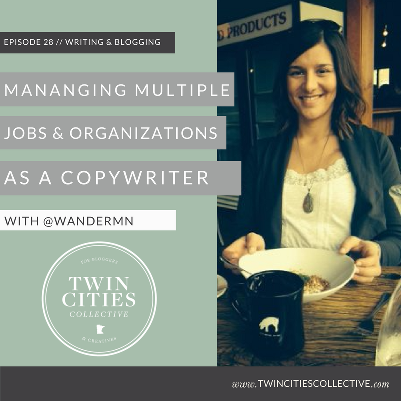 Managing multiple jobs & organizations with copywriter & community leader @wandermn
