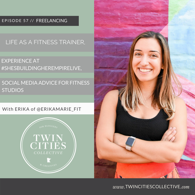 Life as a Fitness Trainer, Experience at #ShesBuildingHerEmpireLive, & Social Media For Fitness Studios with @erikamarie_fit