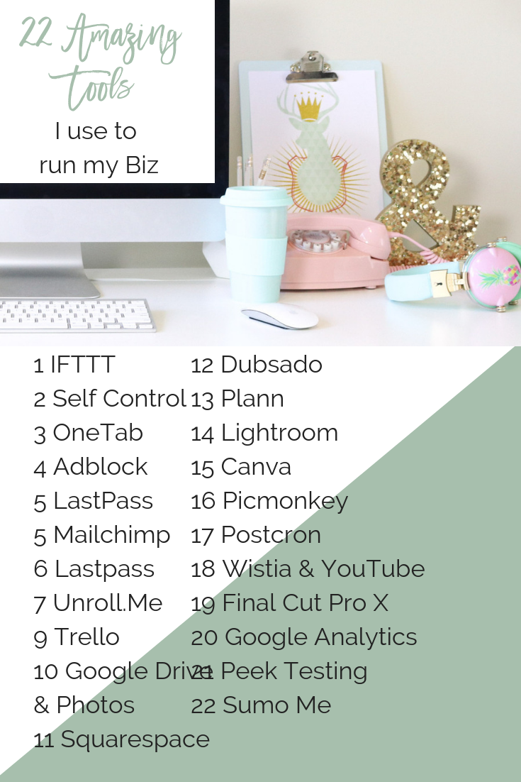 22 Amazing Tools I use to Run My Business