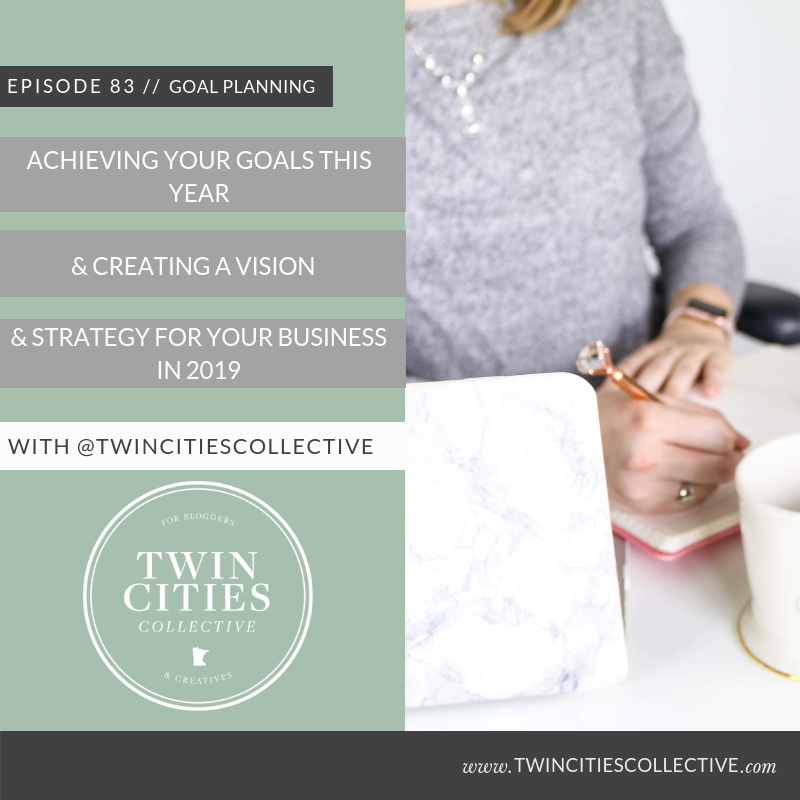 3.83 Achieving Your Goals This Year & Creating A Vision & Strategy For Your Business in 2019
