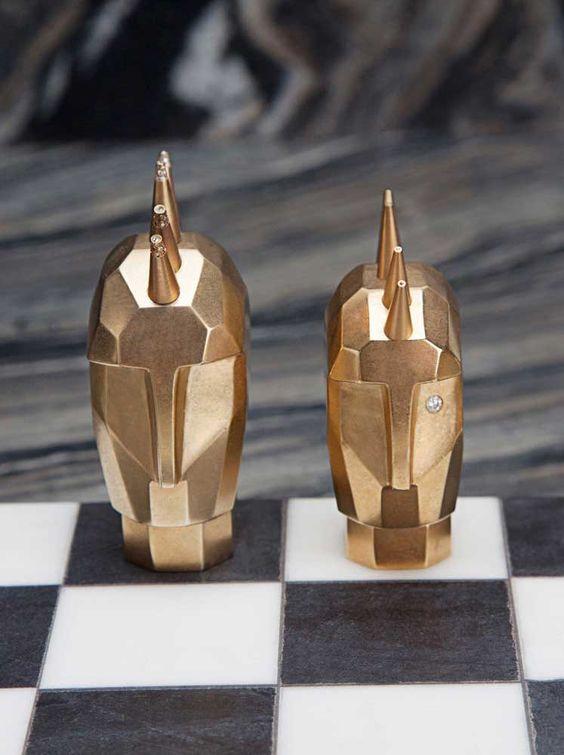 Dichotomy Chessboard by Kelly Wearstler
