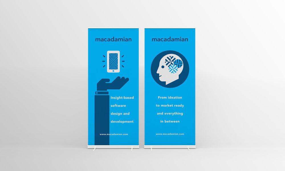 macadamian brand identity marketing banner advertisements
