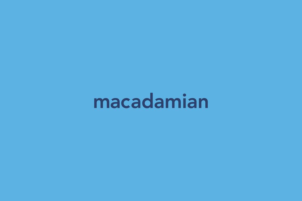 macadamian brand identity logotype