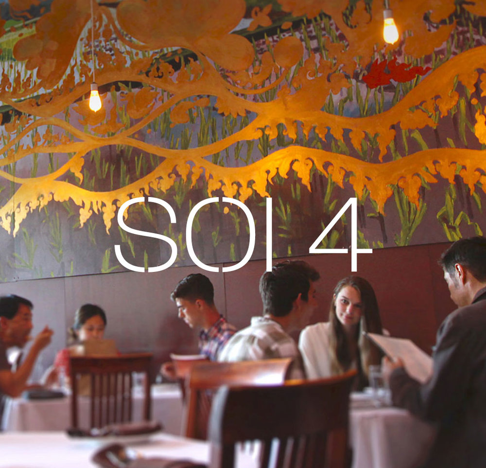 Soi 4 restaurant website design and food photos