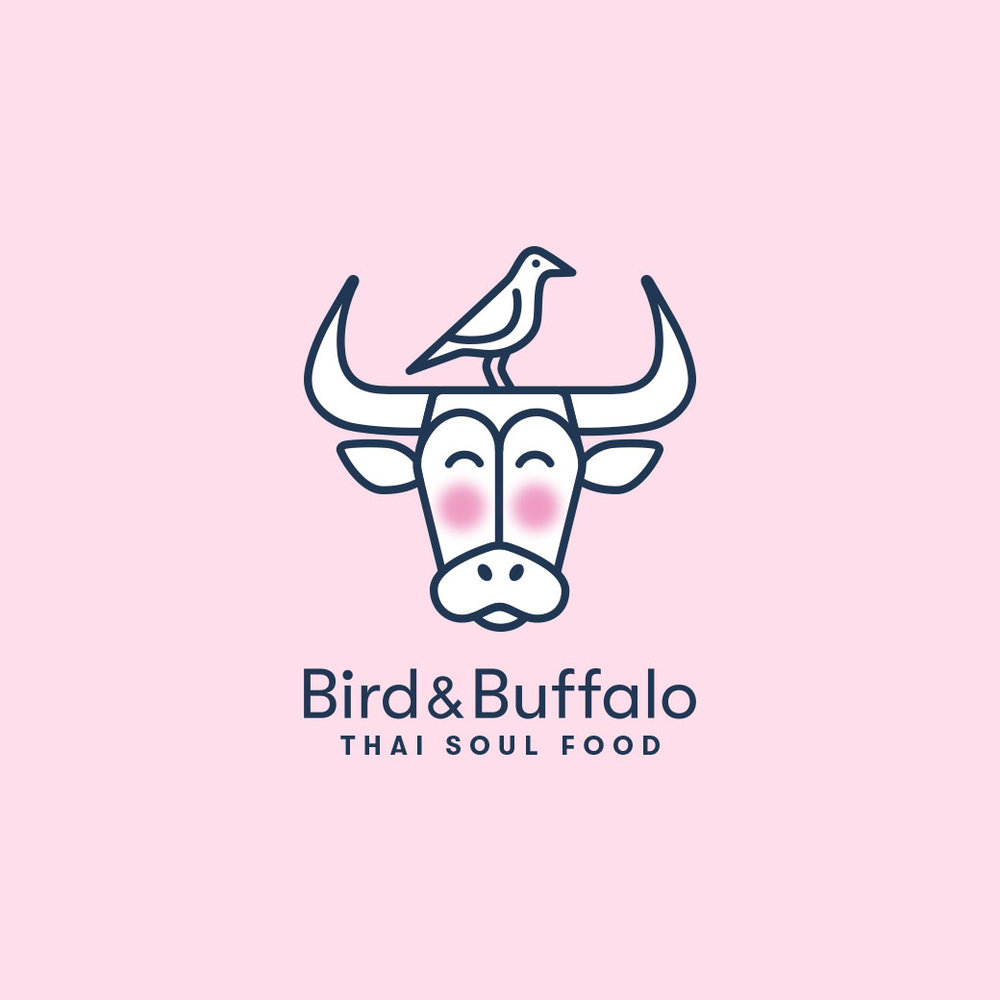 Bird & Buffalo - Restaurant branding, logo design, website, social media promotions, and branded merchandise