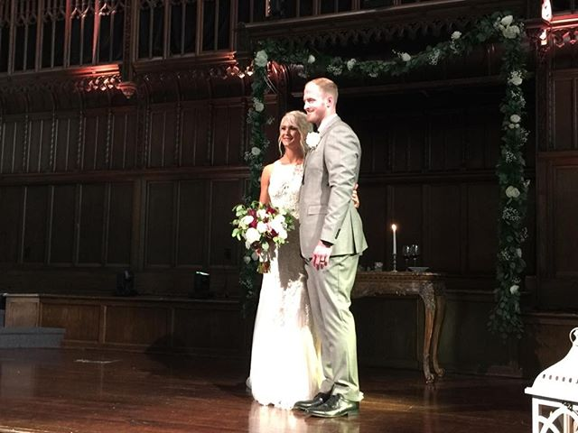 A nice picture as they officially become husband and wife!