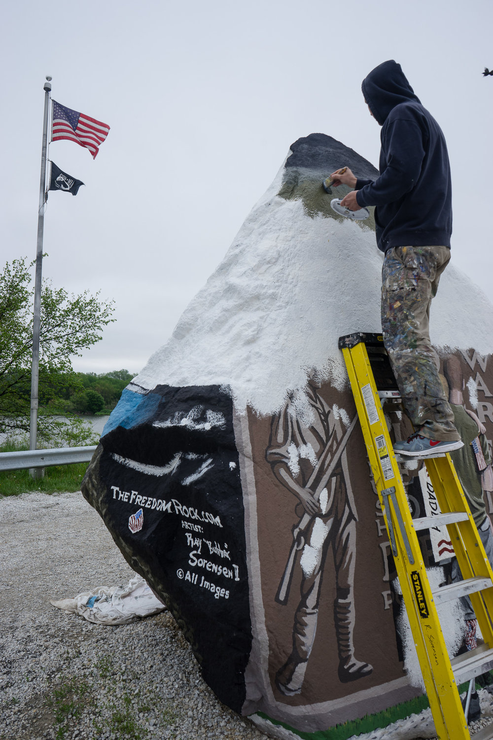 Sorensen works on the 2015 version of the Freedom Rock.