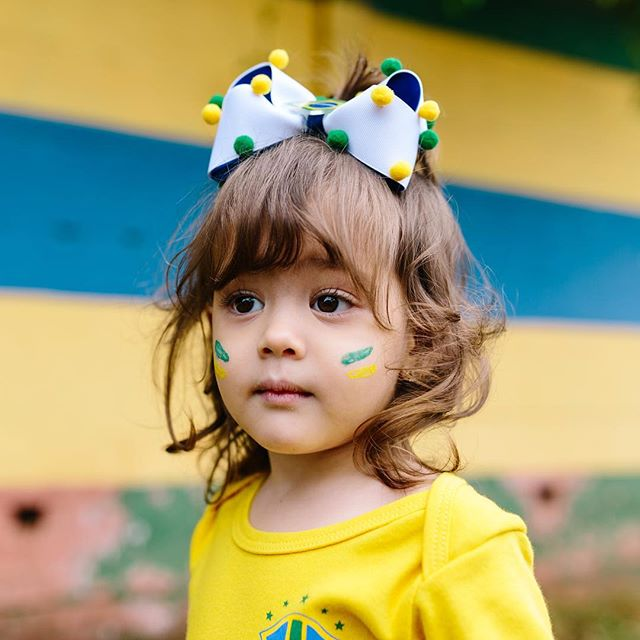 Baby Julia is ready for her first World Cup. ⚽️💛🇧🇷