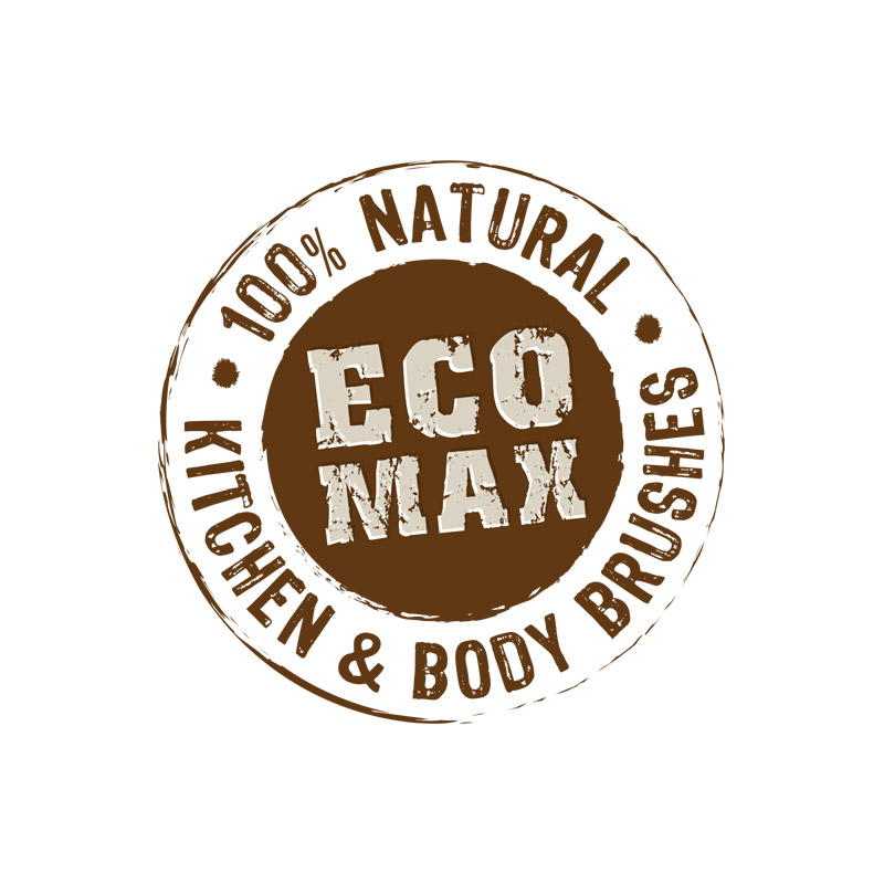 Eco Max   The Eco Max Body Range is an eco-friendly range of body brushes that use natural unbleached and sustainable materials, all beautifully designed and manufactured using fair trade principles to provide a true eco alternative.  The Brushes are environmentally-friendly and biodegradable and utilise waste products, coco fibre from the husk of the coconut and rubber wood, a waste product from rubber production and natural unbleached sustainable materials, Alistonia timber and sisal, that can replace plastics in the bathroom. The wire is galvanized so it won't rust and the cords are all cotton. Even the timber sealant is non-toxic which means it's animal and child-friendly too.  The sisal softens naturally in warm water to give you a vigorous scrub without being too hard and the unbleached coir provides a firm grip even with soapy hands. When the brushes have come to the end of their life, many years from now, they can be added to the compose bin where they will break down naturally leaving only the galvanized wire.