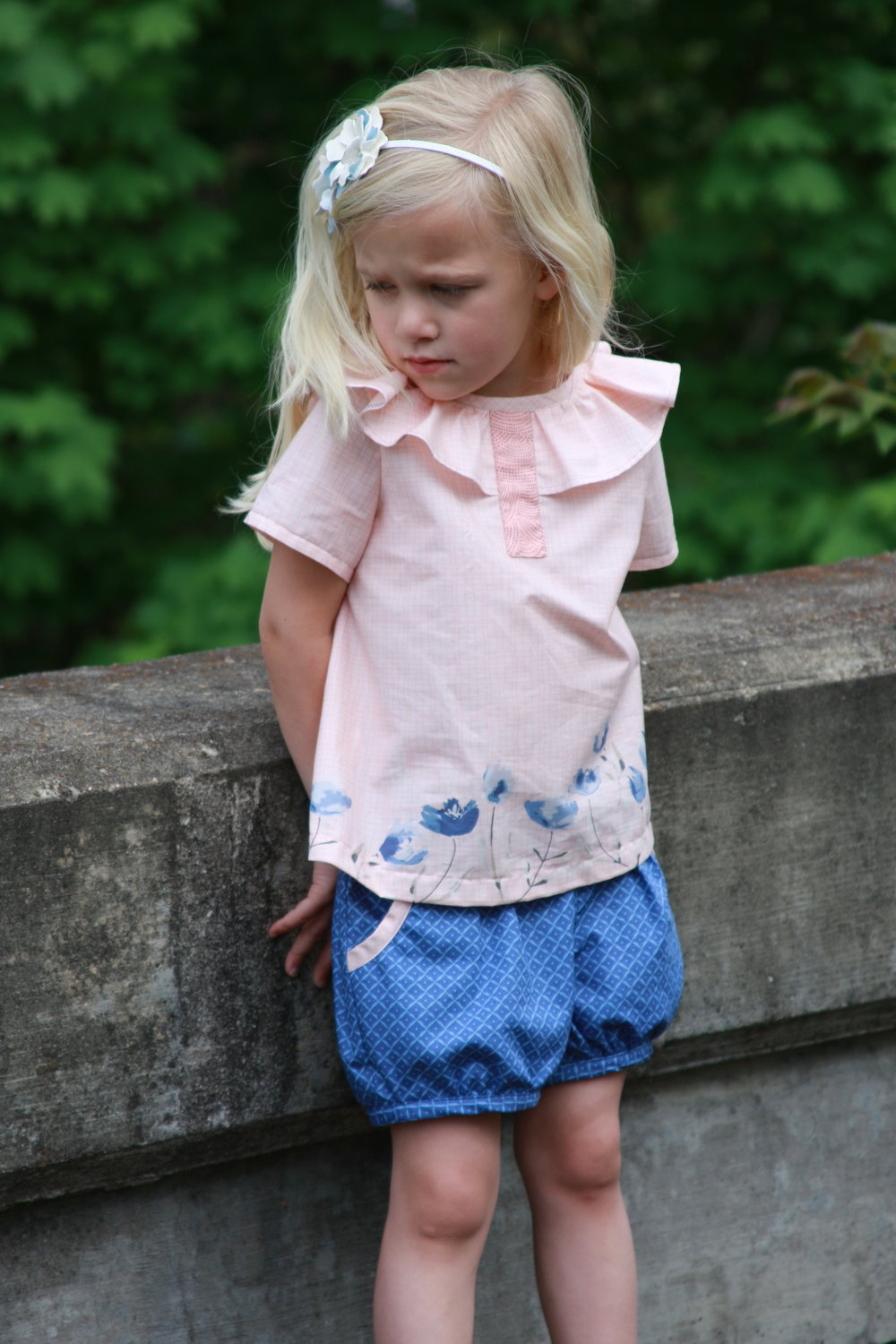 Shorts are Berry Bubble Shorts by Mummykins and Me (one of 10 patterns I picked for summer sewing for kids).