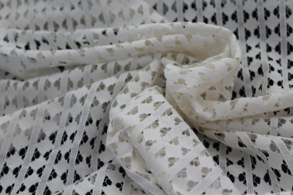 Famous Maker Cotton Natural Lace Woven