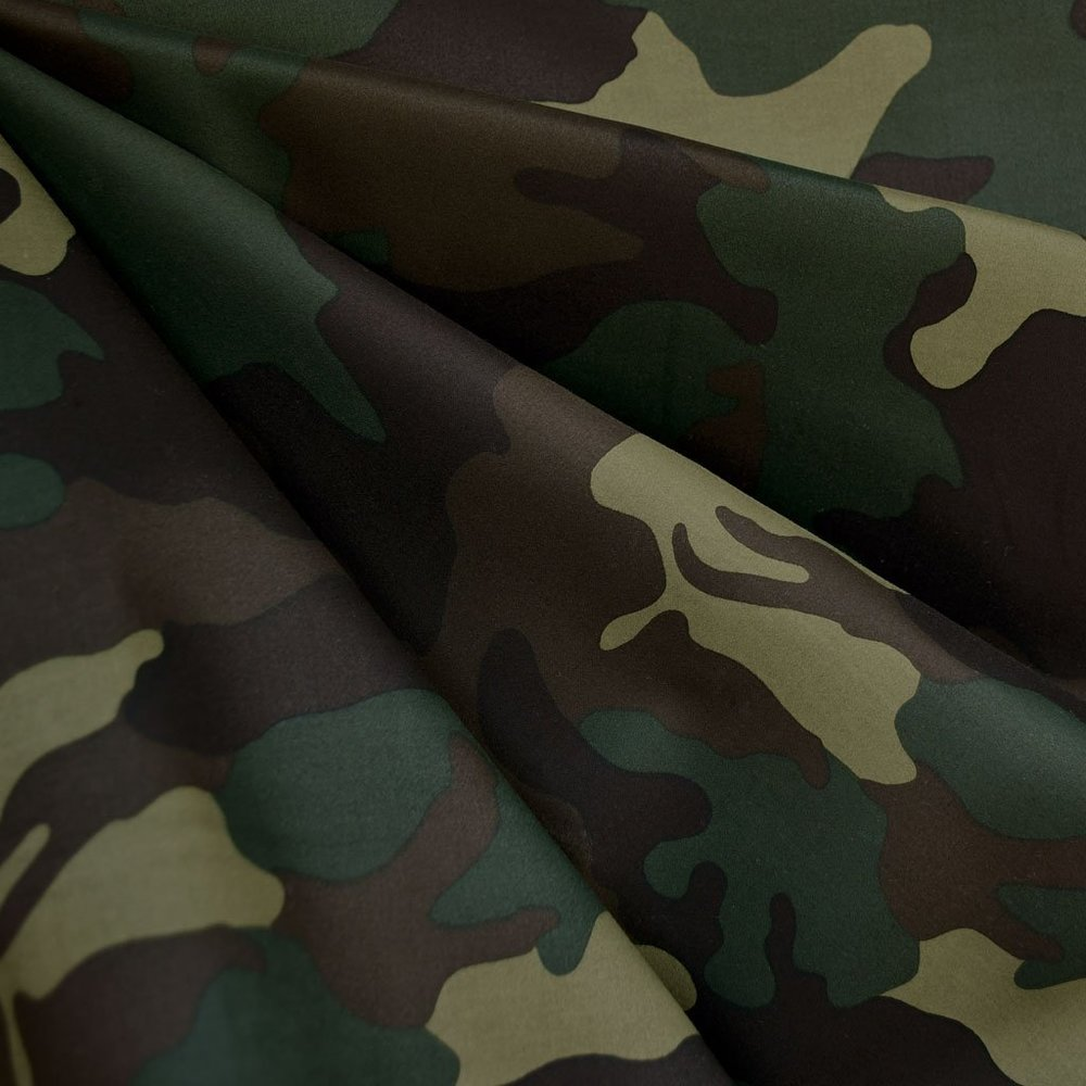 Camouflage Sateen