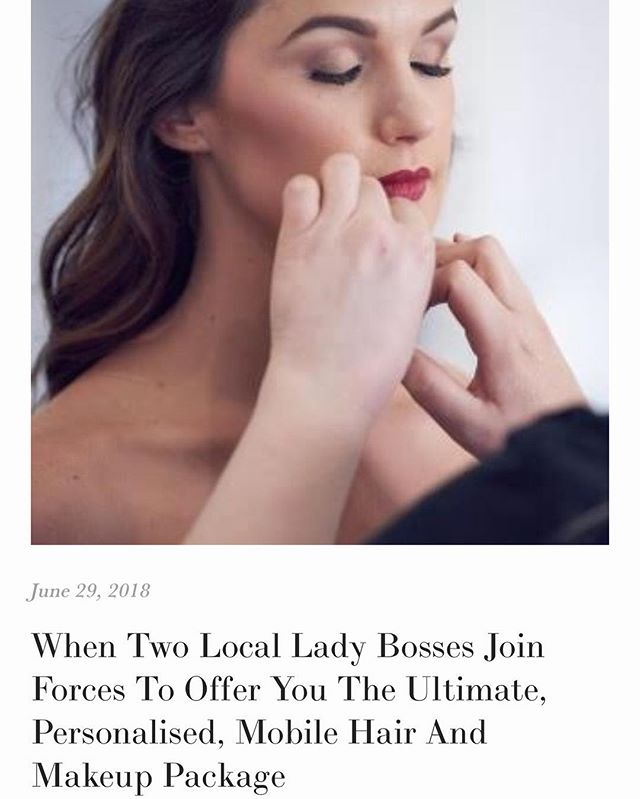 Have you heard? We have a new local lady boss duo in the beauty department offering mobile hair and makeup services for all things weddings and special events - check out the article on the blog for details! Link in  the bio! 💄💋💁🏼‍♀️💃🏼
