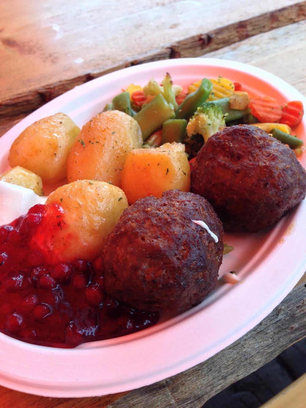 Reindeer meatballs